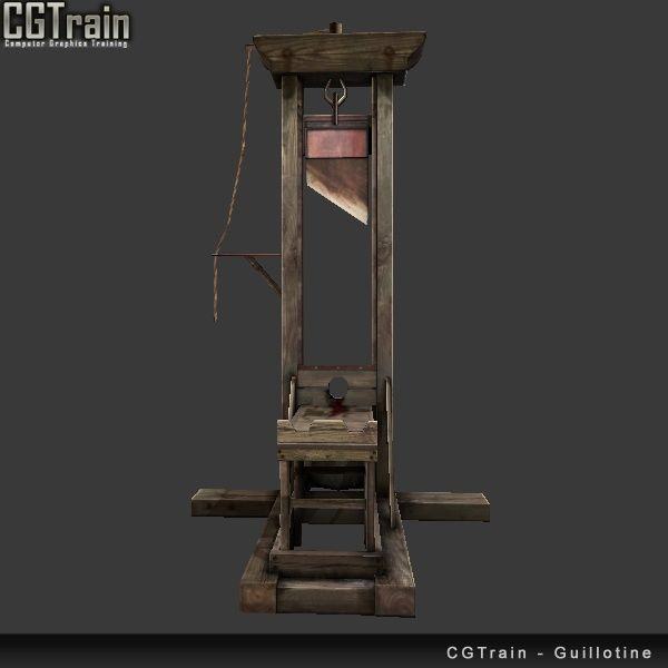 Old Medieval Guillotine - 3D asset for games