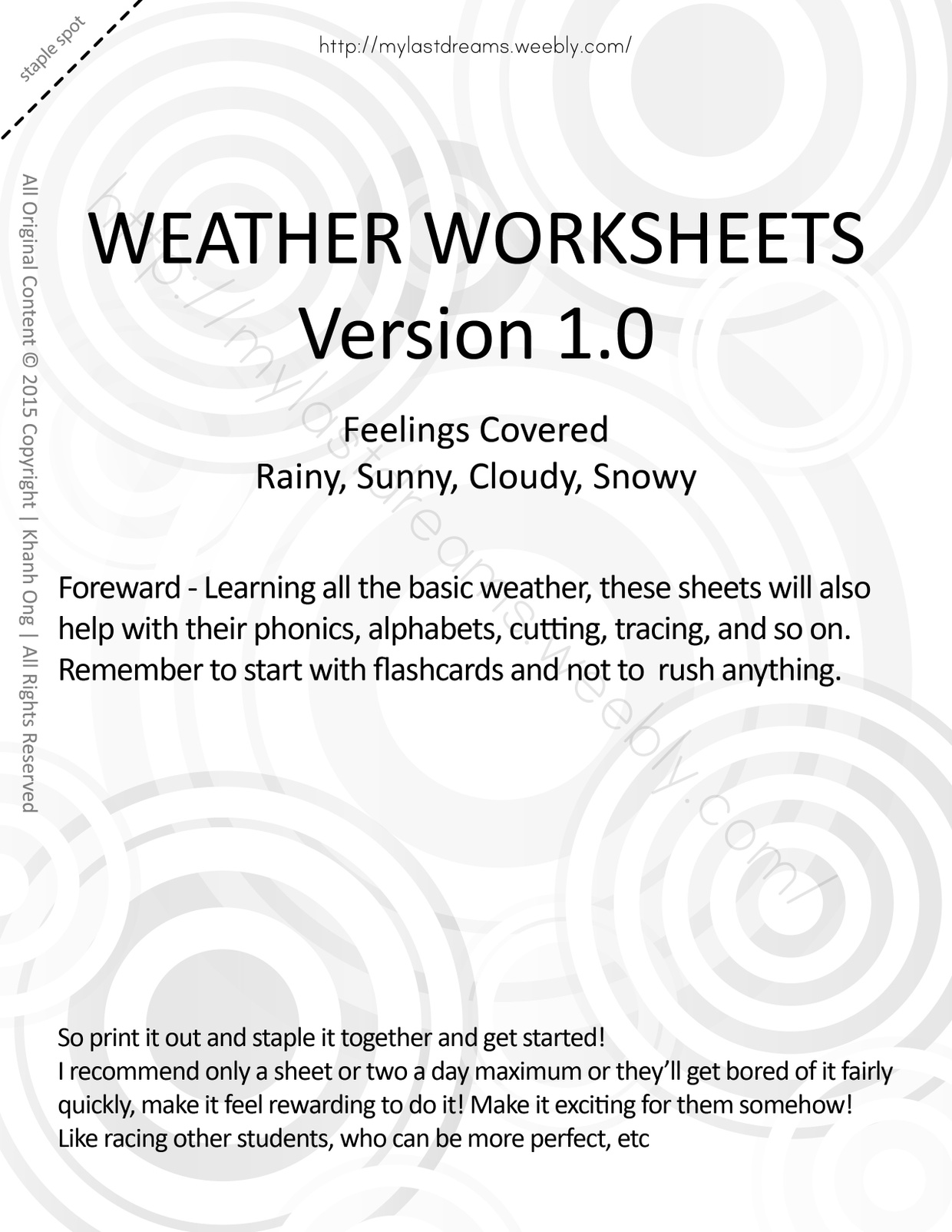 MLD - Basic Weather Worksheets - Full Set - Letter Sized
