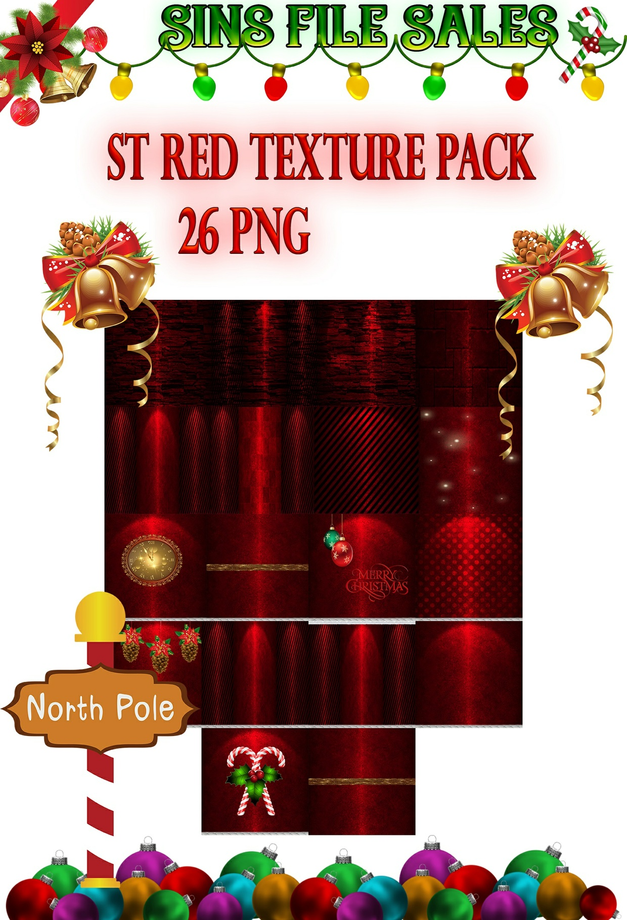 St Red Texture Pack *26 PNG