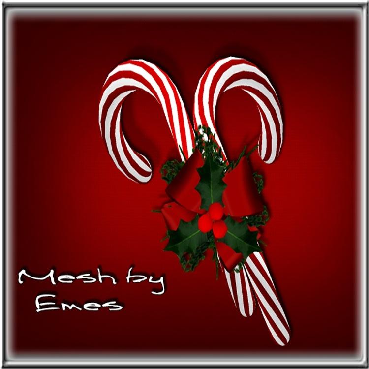 Mesh-Candy Cane Decor