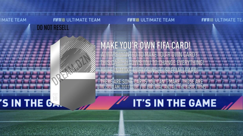 fifa 18 special card creator
