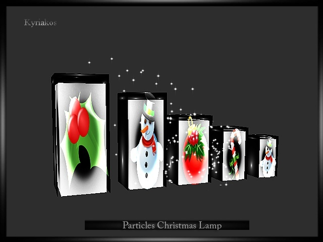Particles Christmas Lamp
