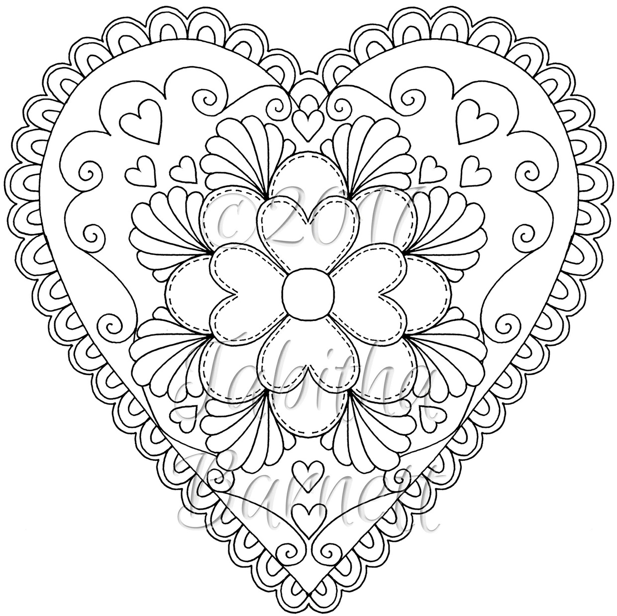 tangled hearts adult coloring book pdf - Adult Coloring Book Pdf