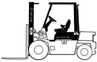 Hyster Forklift Truck A177 Series: H2.00XL (H40XL), H2.50XL (H50XL), H3.00 (H60XL) Spare Parts List