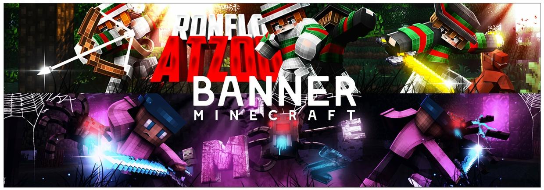 Minecraft - Bannière + Logo