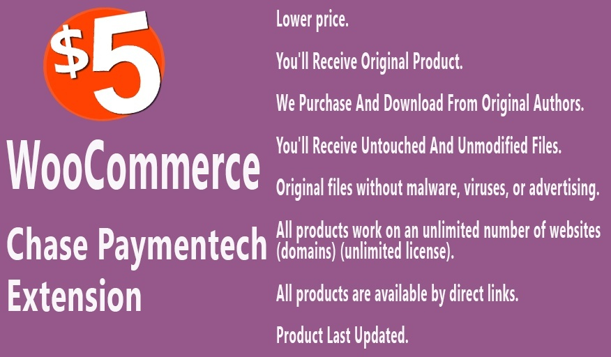 WooCommerce Chase Paymentech Payment Gateway Extension