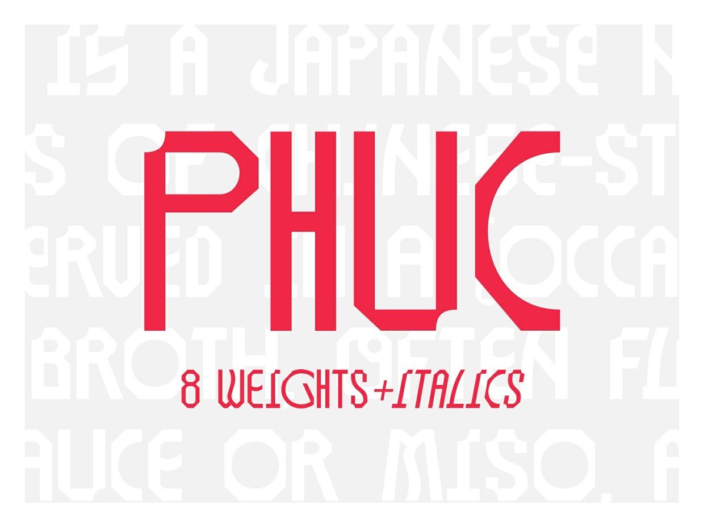 Phuc Font — Family