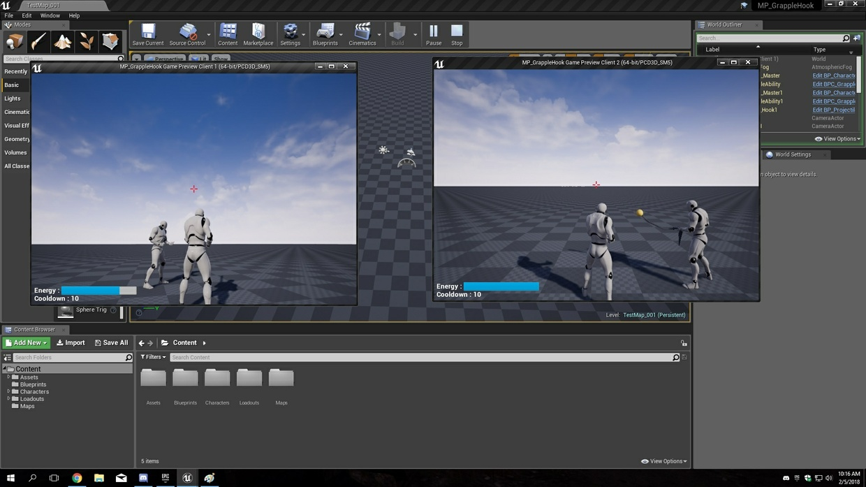 UE4 MP Grapple Hook