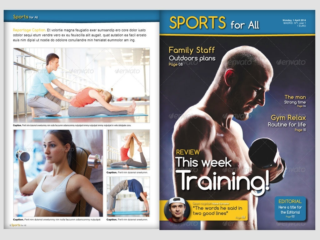Sports for All magazine template