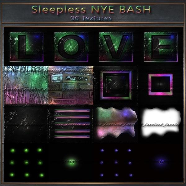 Sleepless NYE Bash 90 textures plus animated fireworks including instructions