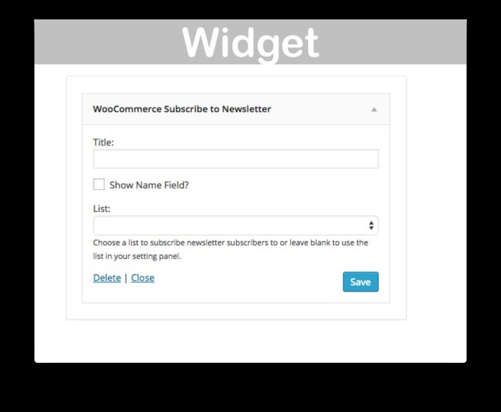 WooCommerce Newsletter Subscription Extension