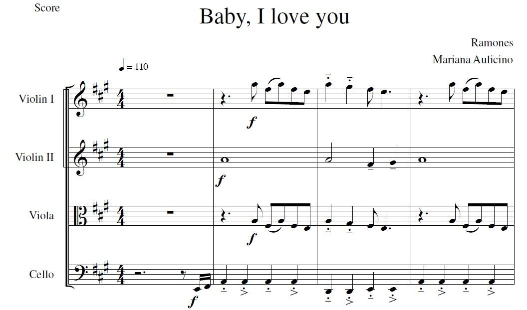 Baby I love You - Ramones - String Quartet