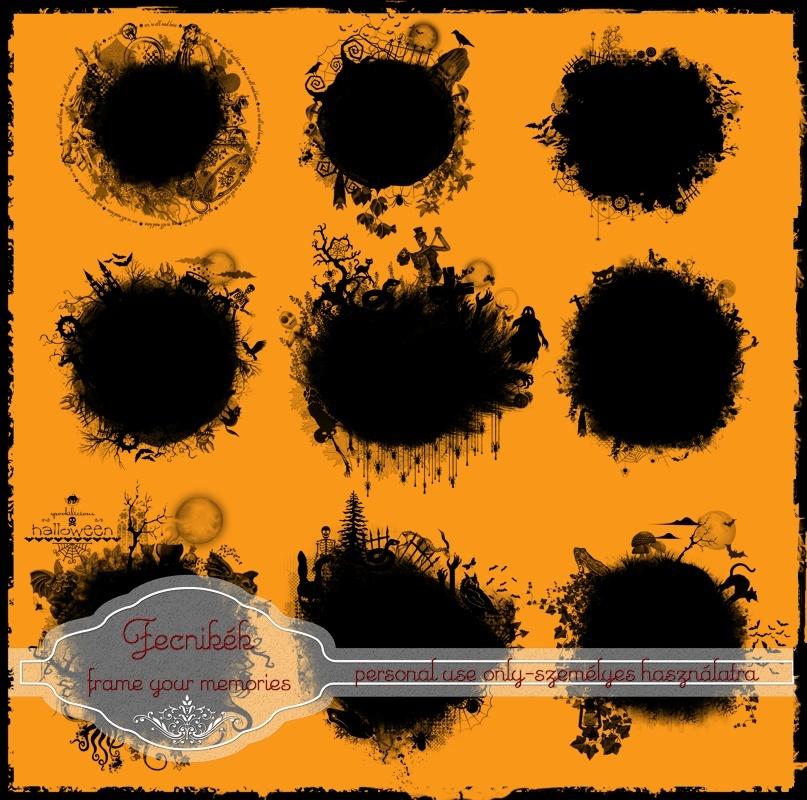 9 halloween mask overlay PNG.