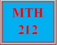 MTH 212 Week 3 MyMathLab® Week 3 Checkpoint