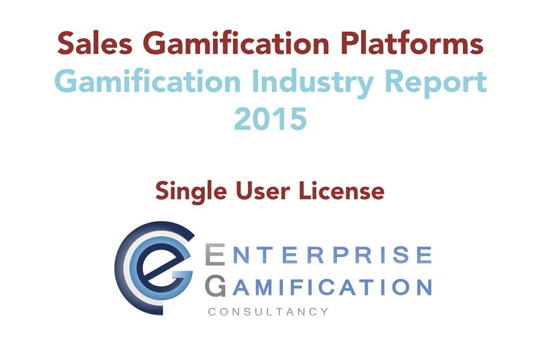 Sales Gamification Platform Report 2015 (Single User License)