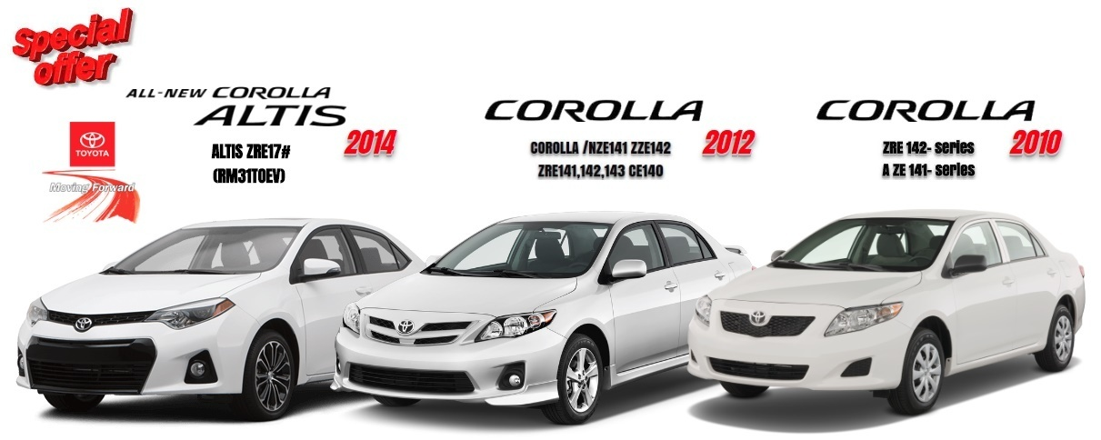 TOYOTA COROLLA 2014 2012 2010 WORKSHOP MANUAL