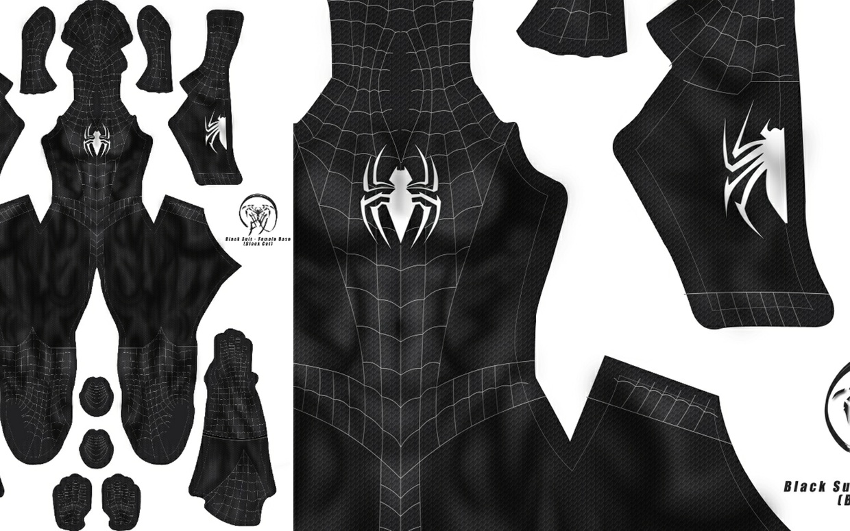 Spider-Man Black Suit (Female Base/Black Cat Version)