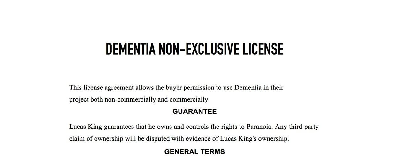 Dark Piano - Dementia License