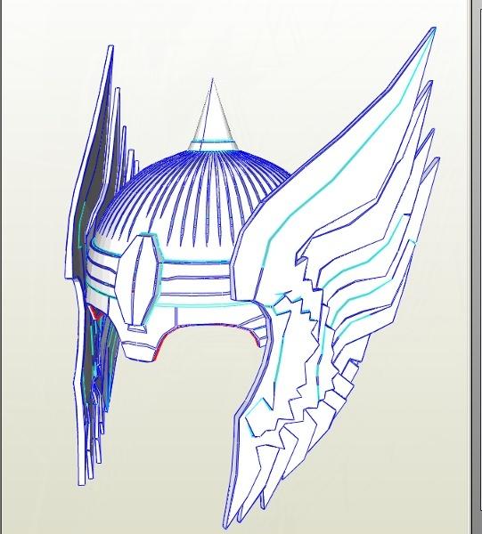 Thor Lord of Asgaurd Helmet CP66 A4 Paper PDO File