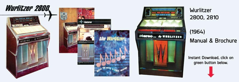 Wurlitzer 2800-2810 Manual, Parts List, Trouble Shooting & Brochure