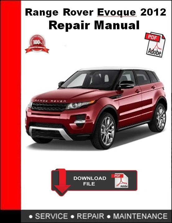 Range Rover Evoque 2012 Repair Manual