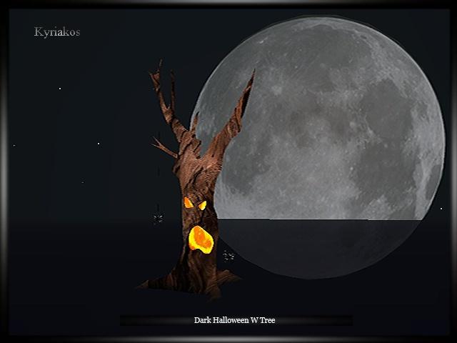Dark Halloween W Tree Room