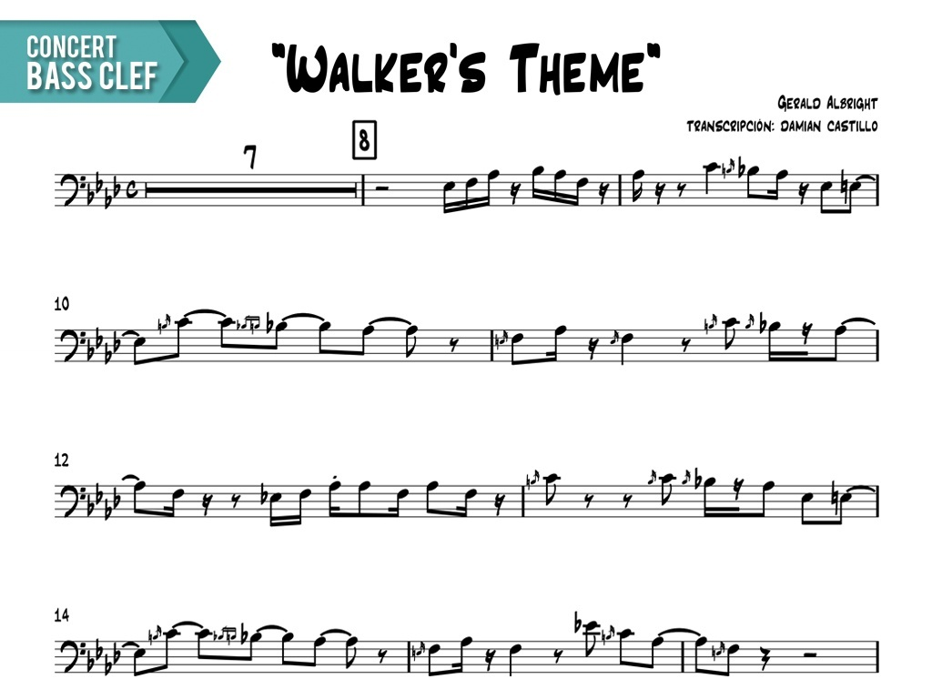 "Gerald Albright - ""Walker's Theme (live at java jazz fest)"" - Concert Bass Clef"