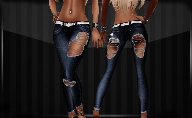 Adeline Skinny Jeans Ripped IMVU Clothes