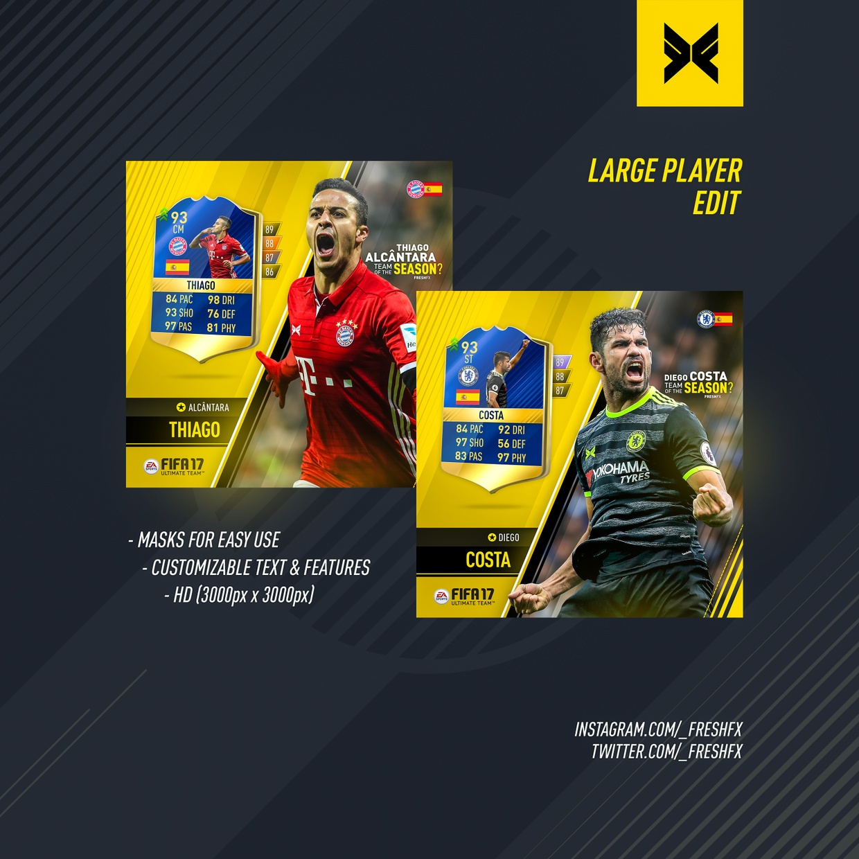 FIFA 17 LARGE PLAYER EDIT TEMPLATE
