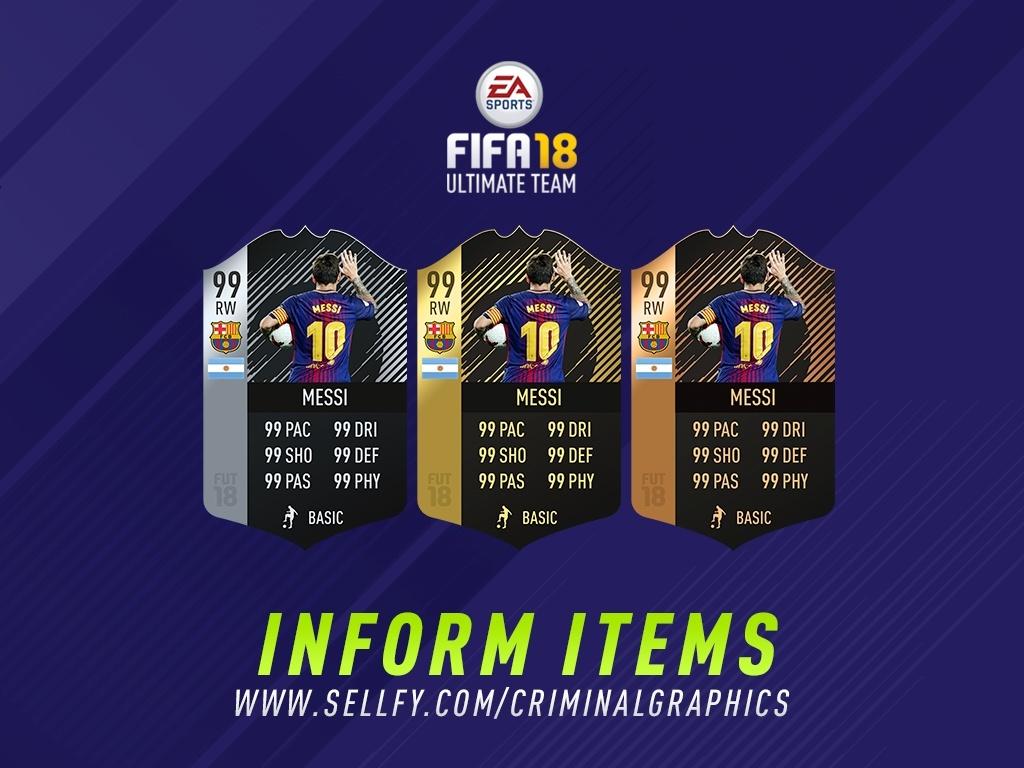 FIFA 18 INFORM ITEMS