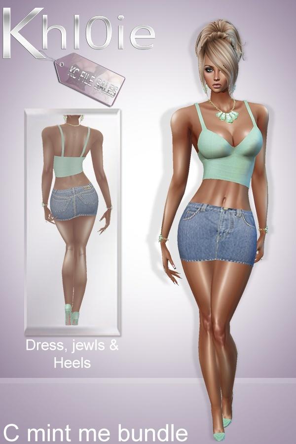 C Mint me Bundle ( dress, heels  and jewls)