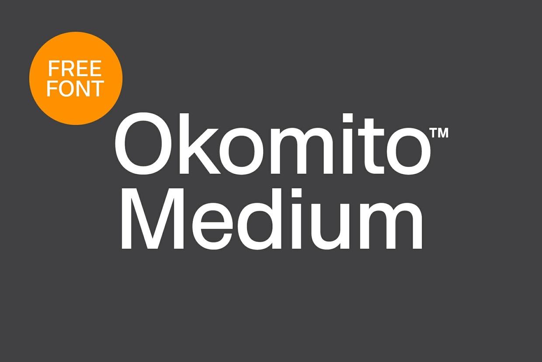 Free Okomito™ Medium Font