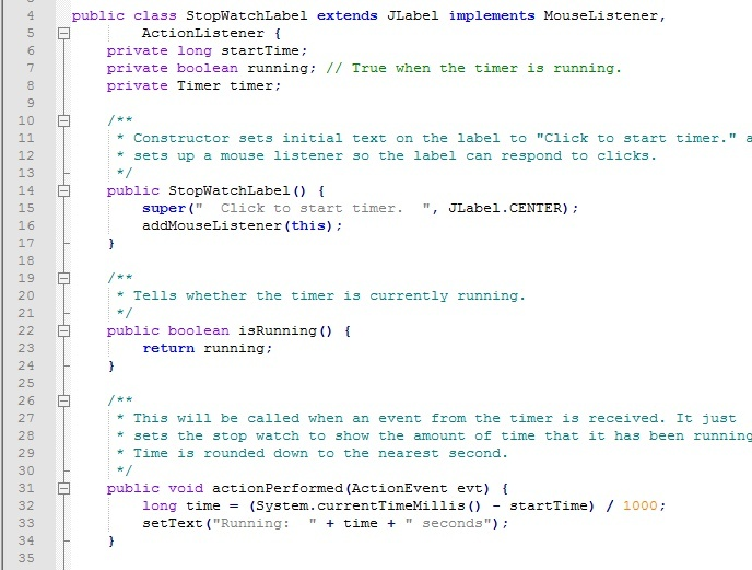 Stopwatch project in Java with full source code