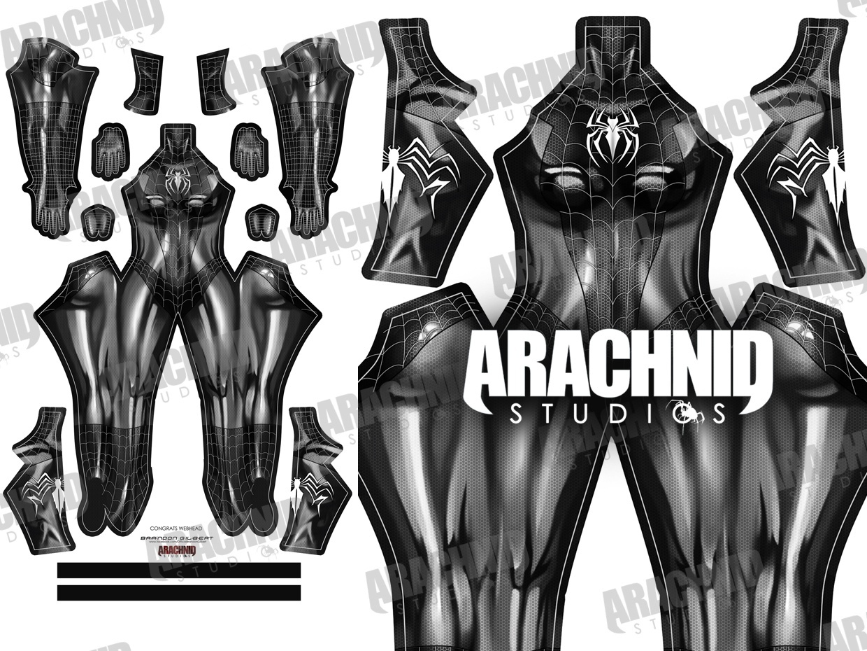 Black Cat Symbiote Dye-sub pattern