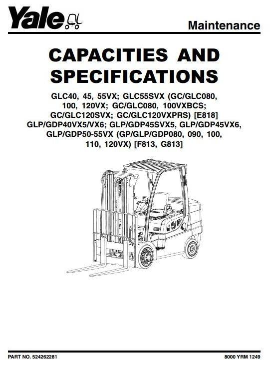 yale  g813  forklift truck gp  glp  gdp 090vx  100v