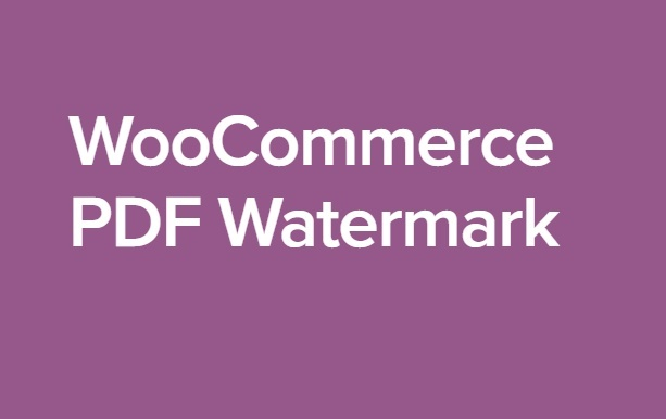 WooCommerce PDF Watermark 1.1.3 Extension