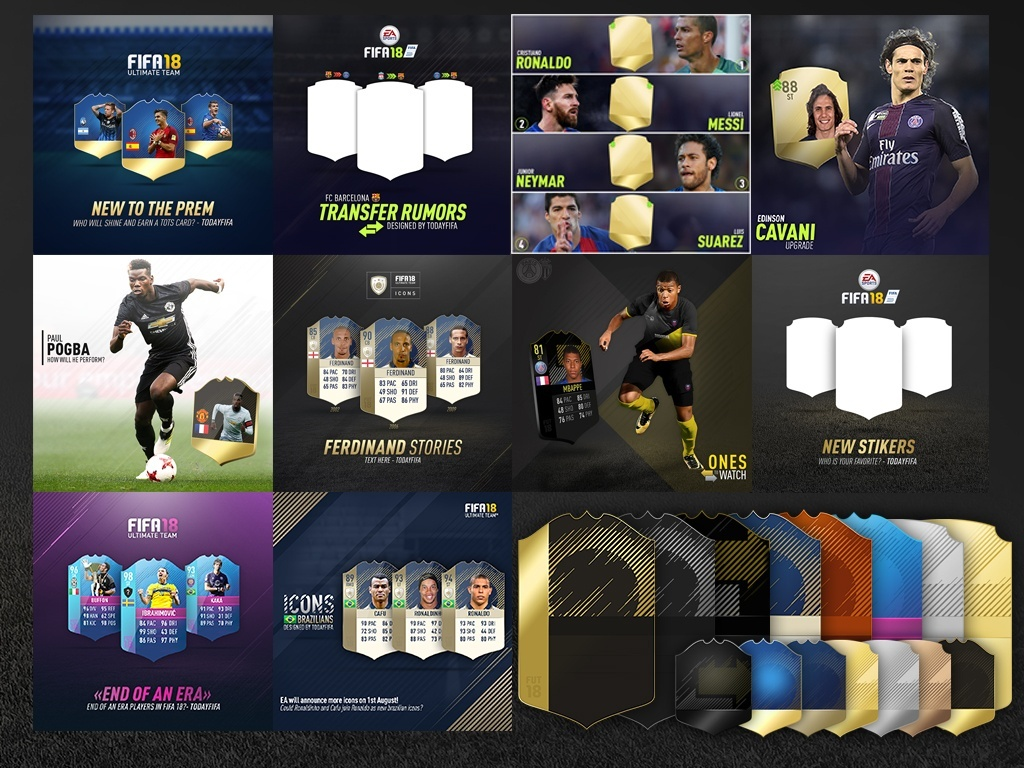 FIFA 18 instagram templates & cards