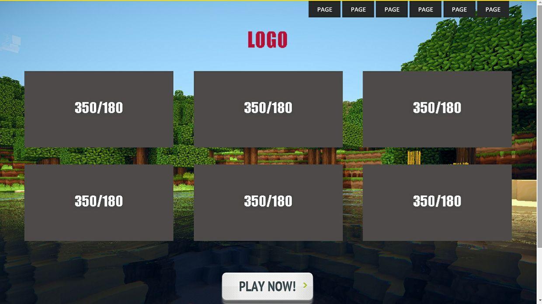 Minecraft Onepage Site