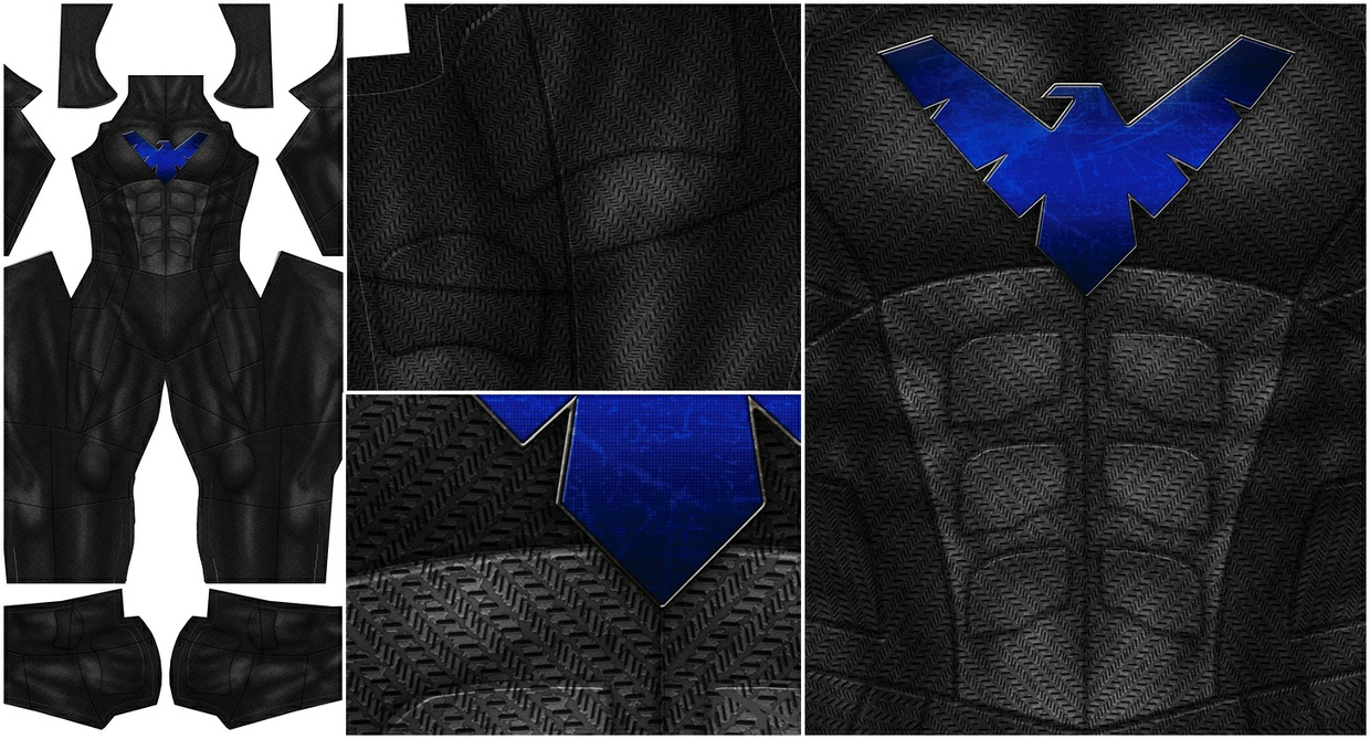 NIGHTWING - Justice League style - pattern file