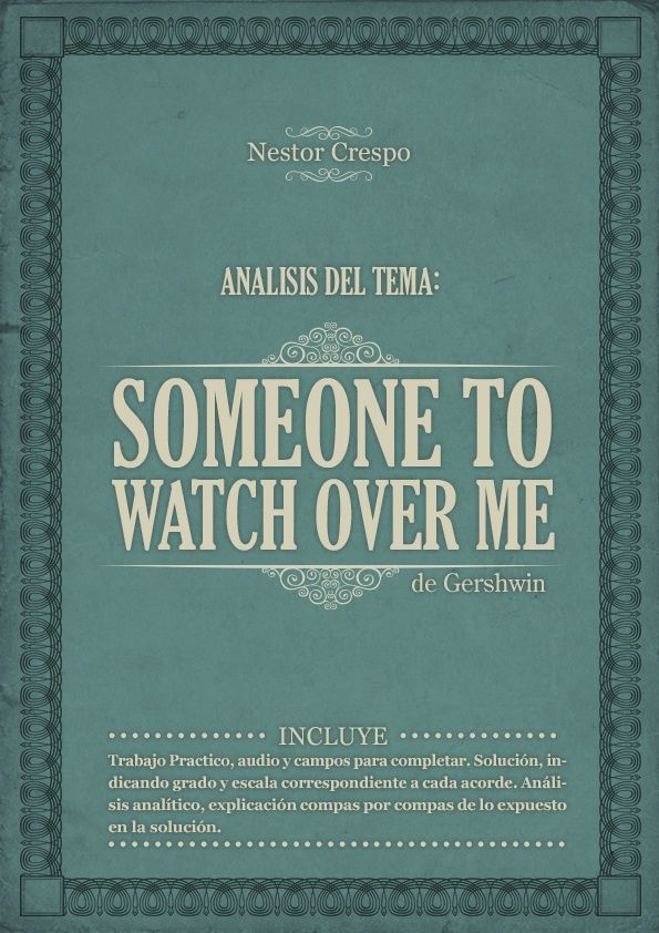 TEORÍA / ANALISIS Completo de Someone to Watch over me - George Gershwim