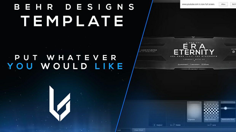 PSD - Thumbnail for YouTube Banner (Editable)