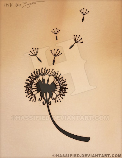 Blowing Dandelion - Printable vector, eps, svg, jpeg