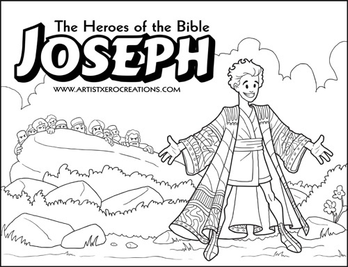The Heroes Of Bible Coloring Pages Joseph