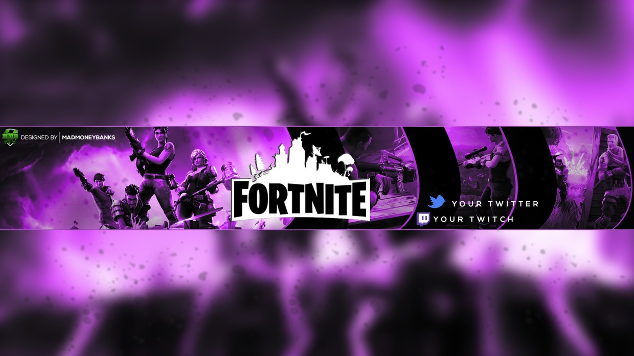 2048 By 1148 Pixels Fortnite Banners: Fortnite YouTube Channel Banner Template