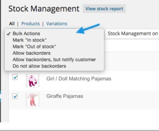 WooCommerce Bulk Stock Management Extension