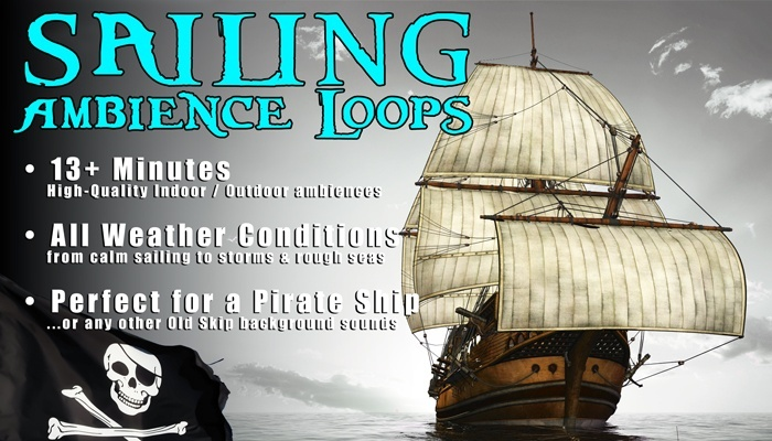 SHIP SAILING AMBIENCE SOUNDS - Old Pirate Ship Background Loops [Royalty Free SFX]