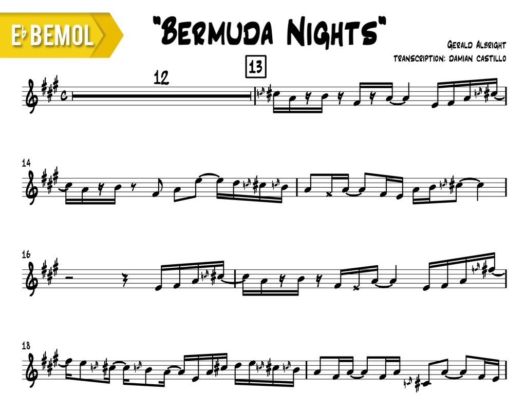 "Gerald Albright - ""Bermuda Nights"" - Eb"