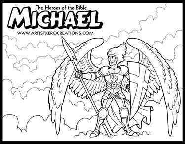 the heroes of the bible coloring pages michael