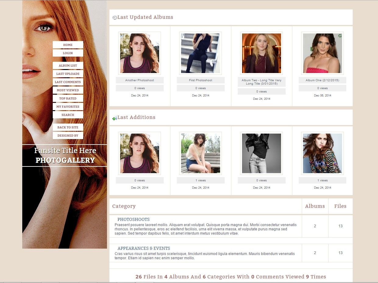 Coppermine Theme - 02