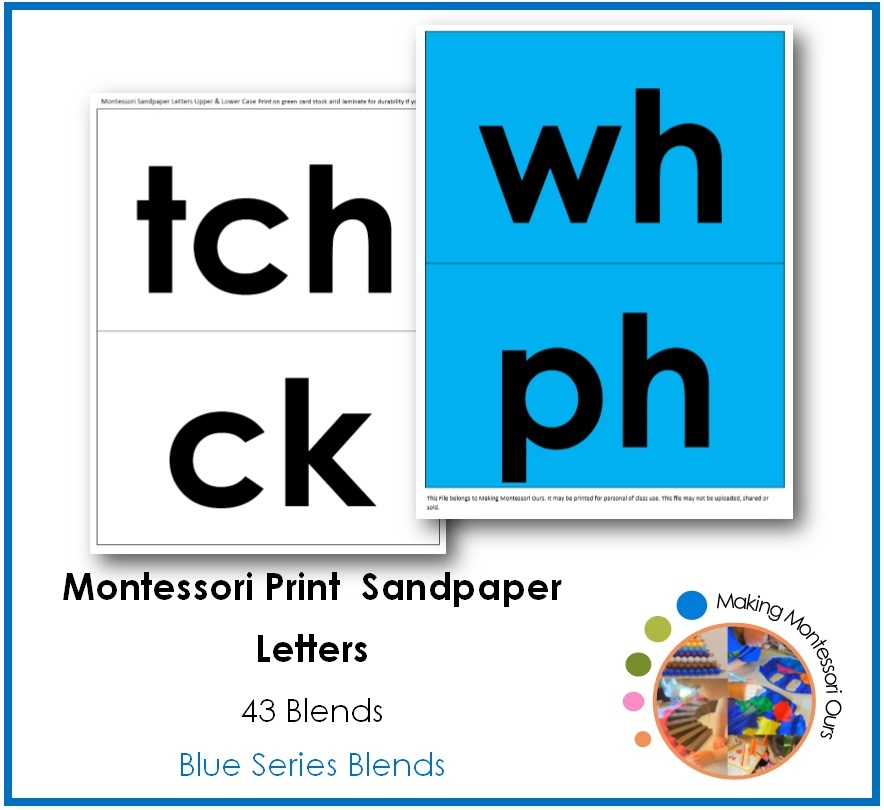 Montessori Blend Sandpaper Letters